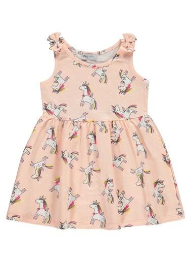 Cvl Cvl Kiz Çocuk Elbise 2-5 Yaş Somon Cvl Kiz Çocuk Elbise 2-5 Yaş Somon Somon
